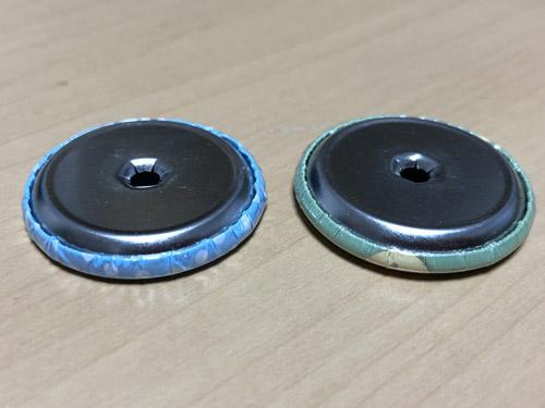 弊社と既存の缶バッジ部品の比較