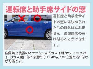 運転席と助手席サイドにも規定があります